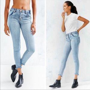 One Teaspoon Yardbirds Raw Hem Skinny Jeans 27